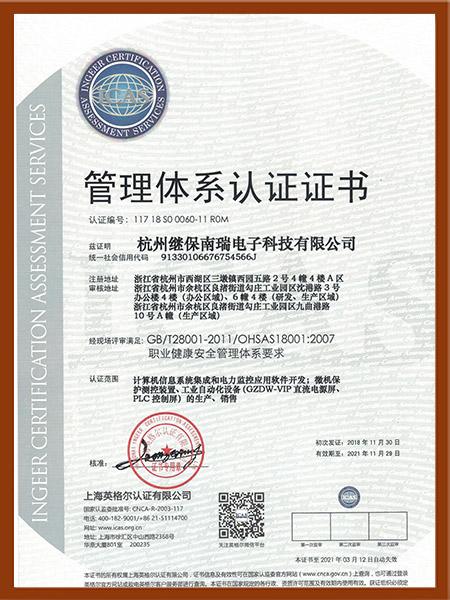 职业健康安全管理体系18001中文版