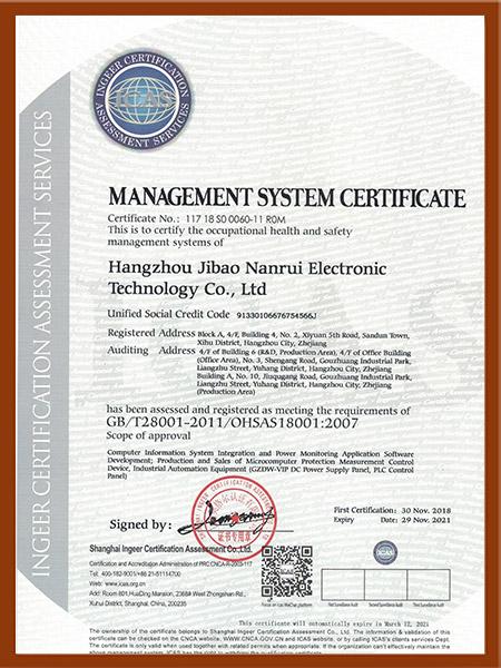 职业健康安全管理体系18001英文版